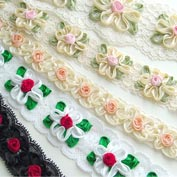 Embroided Cluny Lace