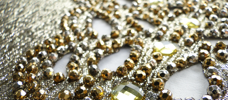 metallic faceted beads with epoxy stones and laser cutting
